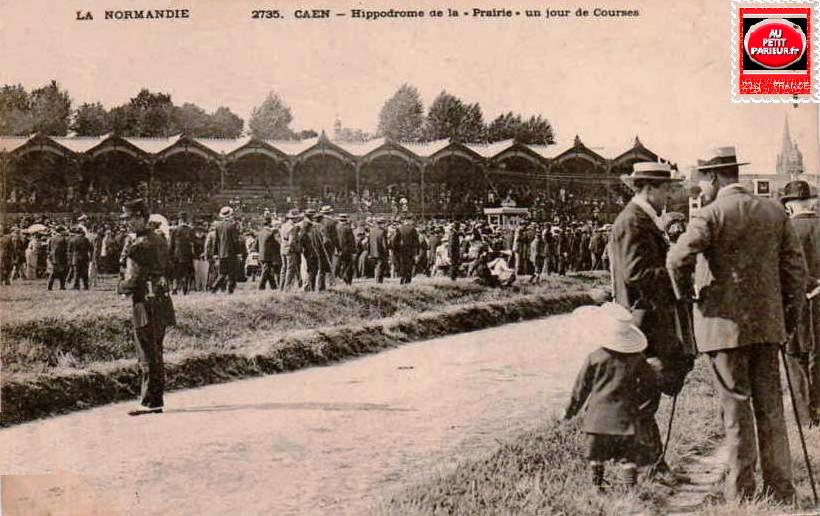 Caen, l'hippodrome de la prairie un jour de courses.
