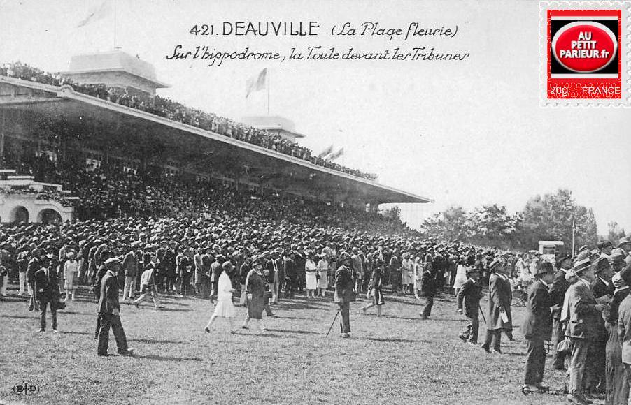 Deauville, le champ de course.