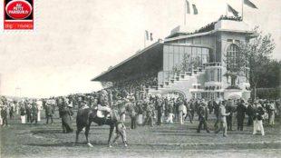 Deauville, l'hippodrome et les tribunes.