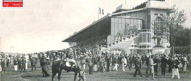 Deauville, l'hippodrome et les tribunes et le meeting.